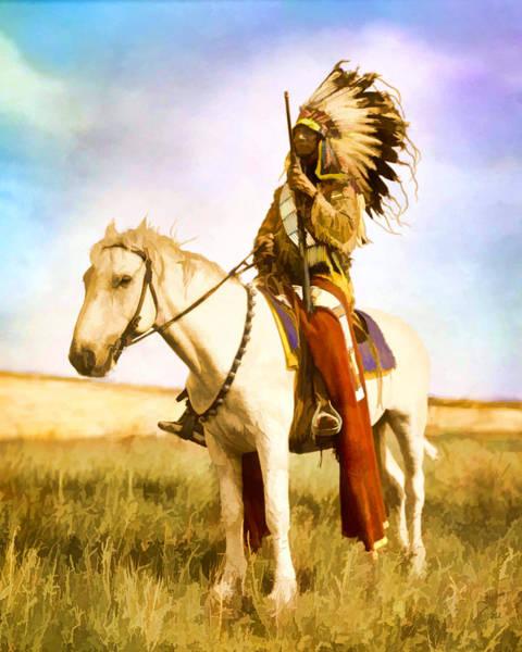 Digital Art - Ghosthorse Rider by Rick Wicker