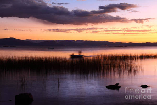 Photograph - Ghostly Fisherman On Lake Titicaca by James Brunker