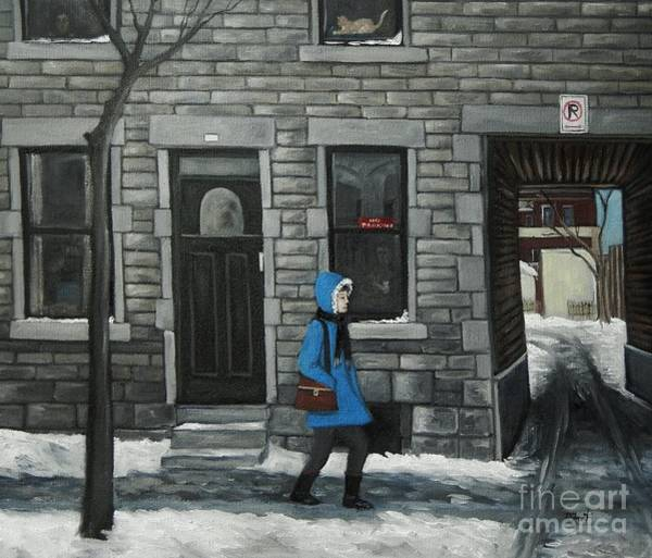 Pointe St Charles Painting - Ghosts Of Winter Past by Reb Frost
