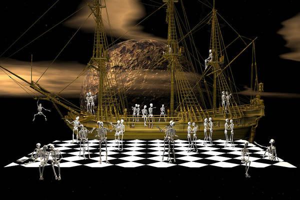 Bryce Digital Art - Ghostship Gala 2 by Claude McCoy
