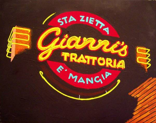 Giannis Trattoria Art Print by Paul Guyer