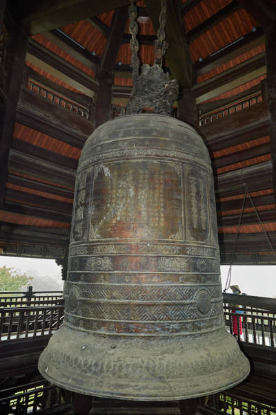 Buddhist Temple Wall Art - Photograph - Giant Bell At Bai Dinh Buddhist Temple by David Wall