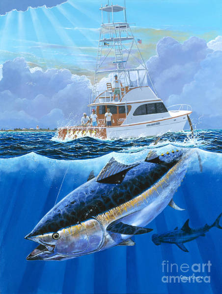 Bahamas Painting - Giant Bluefin Off00130 by Carey Chen