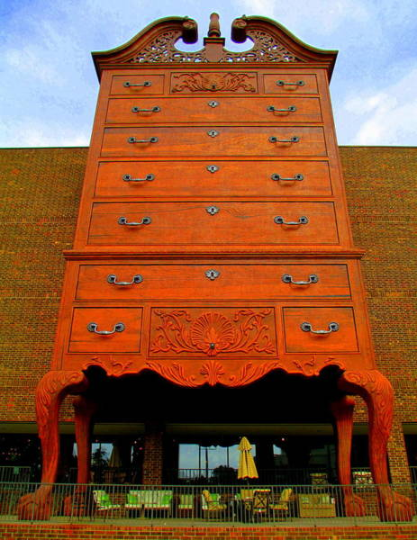 Chest Of Drawers Photograph - Giant Chippendale Chest Of Drawers by Randall Weidner
