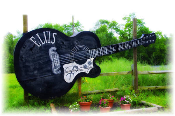 Wall Art - Photograph - Giant Elvis Guitar by Bill Cannon