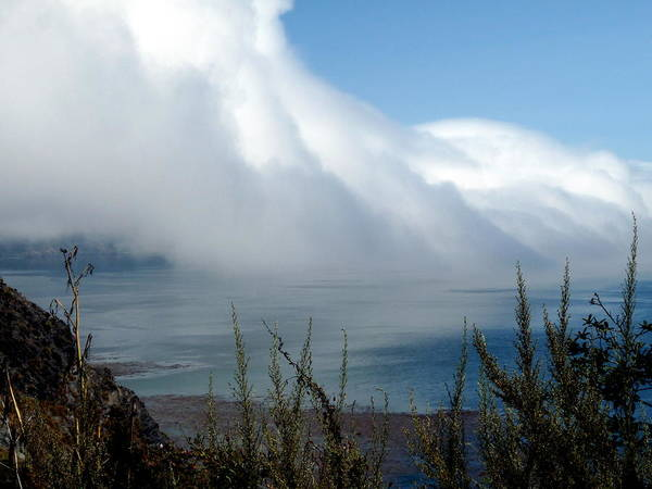 Photograph - Giant Fog Bank Over Pacific Ocean In California by Jeff Lowe
