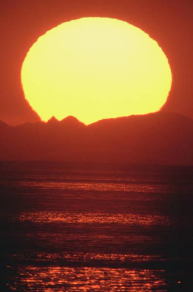 Giant Sun On Horizon Art Print
