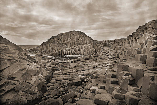 Basalt Photograph - Giant's Causeway by Betsy Knapp