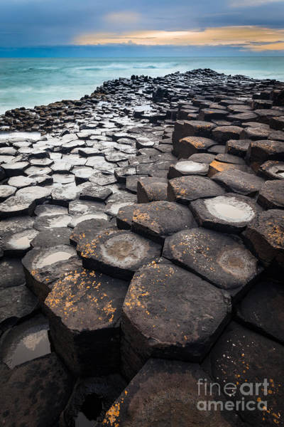 Basalt Photograph - Giant's Causeway Hexagons by Inge Johnsson