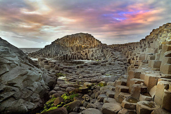 Basalt Photograph - Giant's Causeway Spiritual by Betsy Knapp