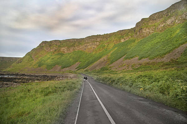 Basalt Photograph - Giant's Causeway Walk The Line by Betsy Knapp