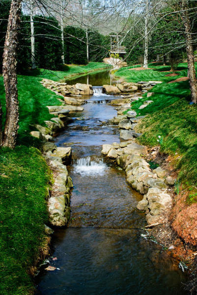 Photograph - Gibbs Gardens Stream 1 by George Taylor