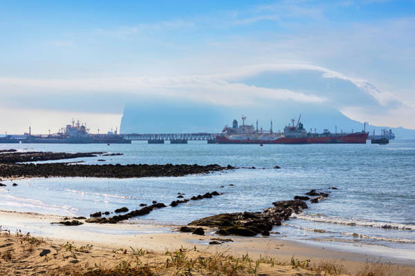 Levante Wall Art - Photograph - Gibraltar Covered By Levanter Cloud by Ken Welsh