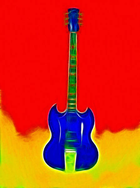 Wall Art - Painting - Gibson Guitare by Steve K