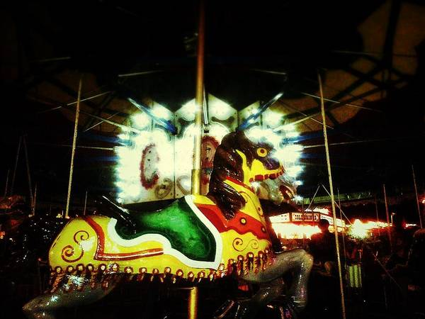 Carousel Digital Art - Giddy Up by Olivier Calas