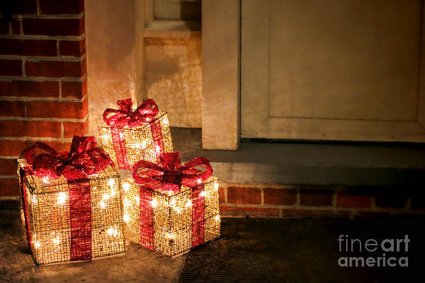 Light Box Photograph - Gift Of Lights by Olivier Le Queinec