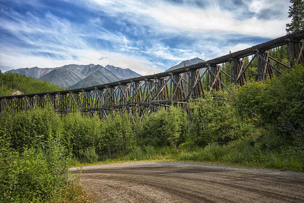 Photograph - Gilahina Railroad Trestle by Ghostwinds Photography