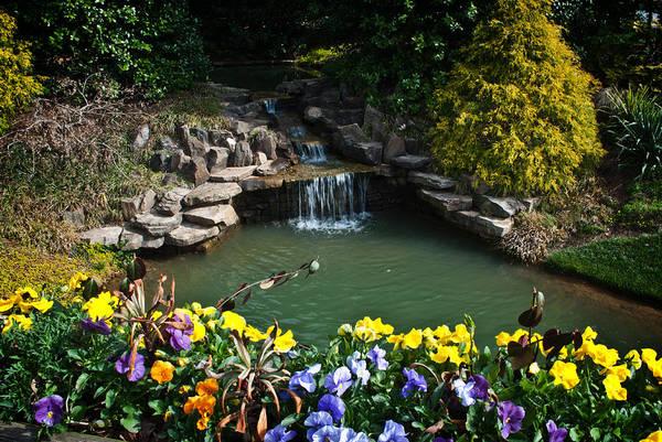 Photograph - Gilbbs Gardens Flower Bridge by George Taylor