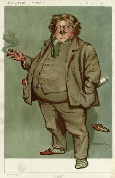 Wall Art - Drawing - Gilbert Keith Chesterton  English by Mary Evans Picture Library