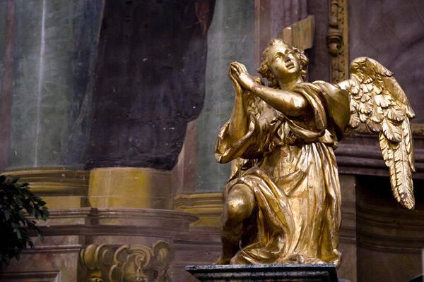 Photograph - Gilded Angel Of Iglesia De San Ildefonso by Lorraine Devon Wilke