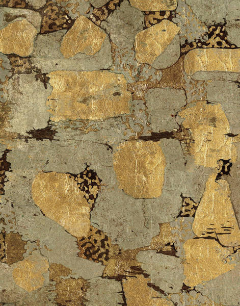 Bronze Painting - Gilded Stone Gold I by Wild Apple Portfolio