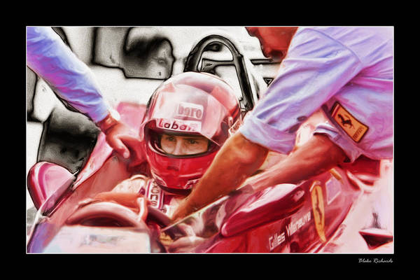Photograph - Gilles Villeneuve by Blake Richards