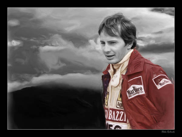 Photograph - Gilles Villeneuve Portrait by Blake Richards