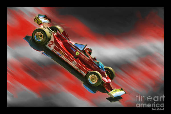 Photograph - Gilles Villeneuve's Ferrari by Blake Richards