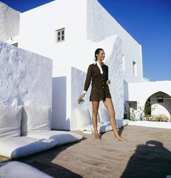 Dodecanese Photograph - Ginette Camu In Patmos Greece by Henry Clarke