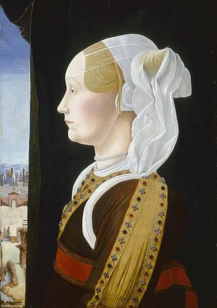 Nobility Painting - Ginevra Bentivoglio by Ercole de Roberti