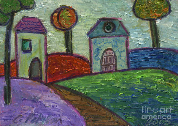 Atc Painting - Ginger Garden. Welcome Home. by Cathy Peterson