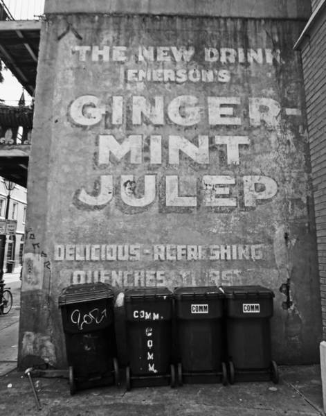 Photograph - Ginger-mint Julep Mural In New Orleans by Louis Maistros