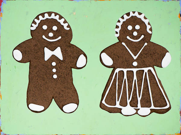 Cookie Wall Art - Painting - Ginger Pair by David Palmer