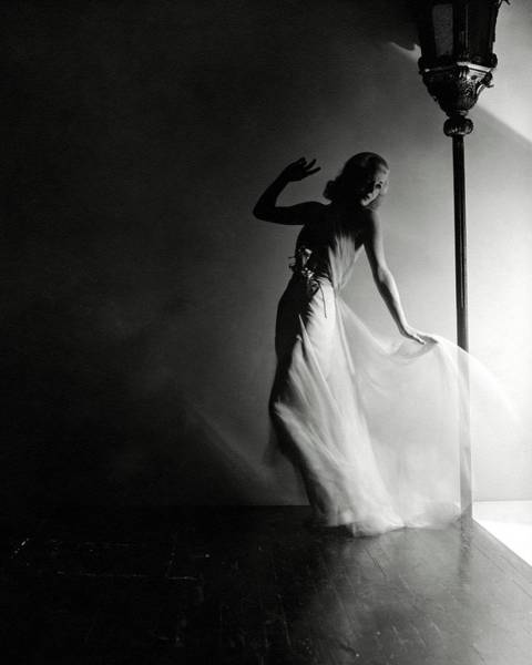 Light Photograph - Ginger Rogers Wearing An Evening Gown by Horst P. Horst