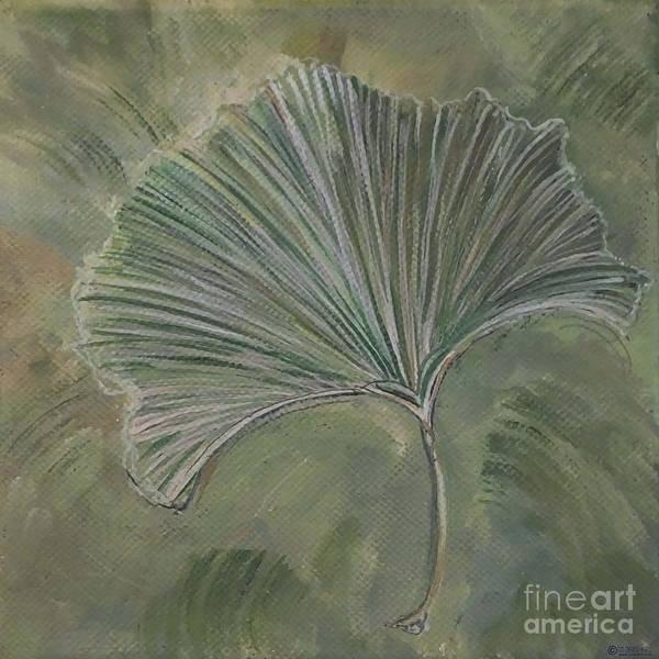 Painting - Ginko Leaf by Lizi Beard-Ward
