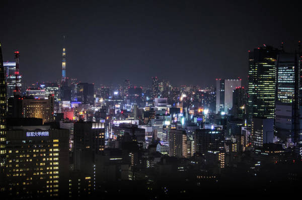 Ginza Wall Art - Photograph - Ginza Skyline With Tokyo Sky Tree by Image Courtesy Trevor Dobson