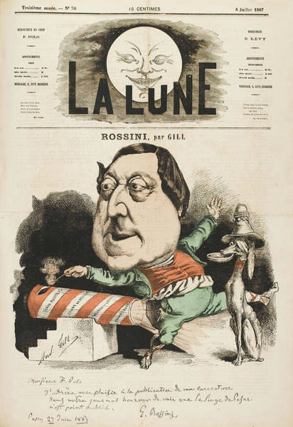 Gill Drawing - Gioacchino Rossini  Italian/french by Mary Evans Picture Library