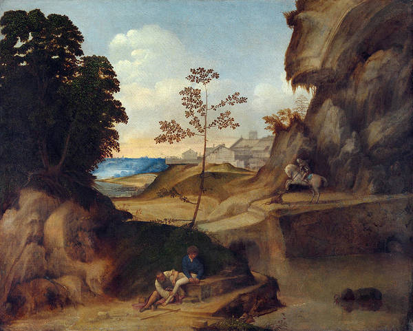 Tramonto Wall Art - Painting - Giorgione Il Tramonto by Granger
