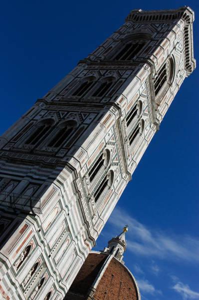 Photograph - Giotto Fantastic Campanile - Florence Cathedral - Piazza Del Duomo - Italy by Georgia Mizuleva