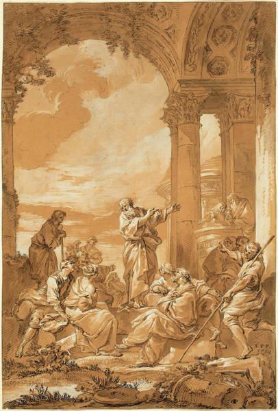 Prepare Drawing - Giovanni Paolo Panini, Italian 1691-1765 by Litz Collection