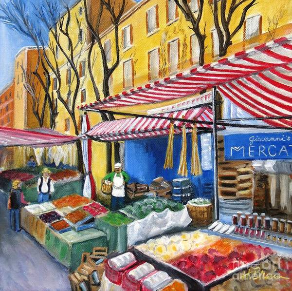 Holly Brannan Wall Art - Painting - Giovanni's Market by Holly Bartlett Brannan