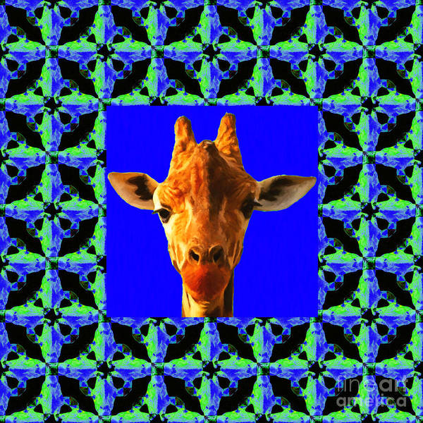 Colorful Giraffe Photograph - Giraffe Abstract Window 20130205p100 by Wingsdomain Art and Photography