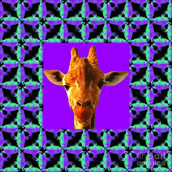 Colorful Giraffe Photograph - Giraffe Abstract Window 20130205p128 by Wingsdomain Art and Photography