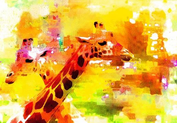 Photograph - Giraffe Colorwash by Alice Gipson