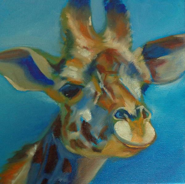Wall Art - Painting - Giraffe by Kaytee Esser