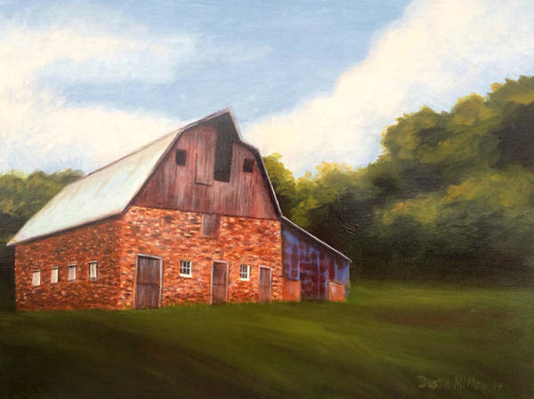 Painting - Giraffe Rock Barn by Dustin Miller