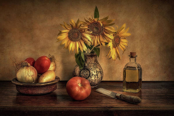 Composition Photograph - Girasoles En La Cocina... by Juan Luis Seco