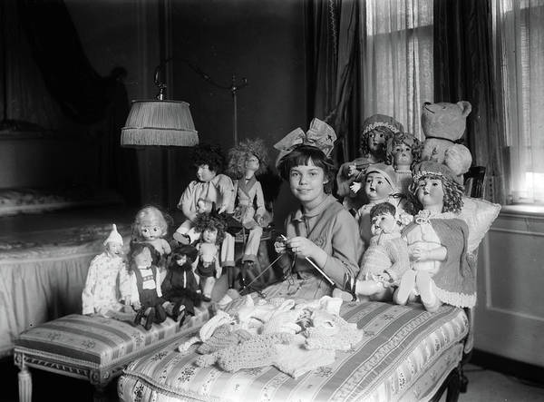 Photograph - Girl And Dolls, C1910 by Granger