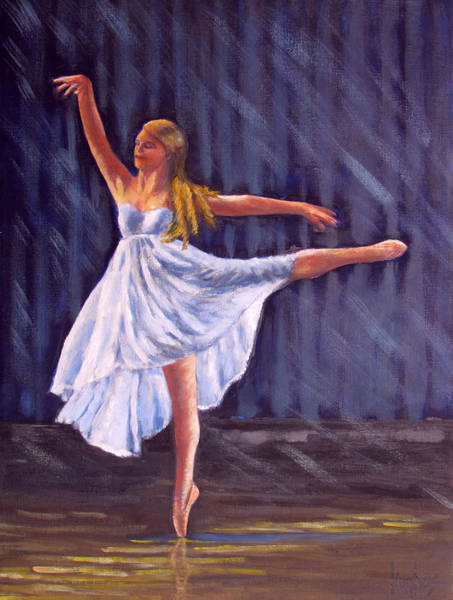 Painting - Girl Ballet Dancing by Kevin Hughes