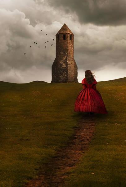 Photograph - Girl Dressed In Red by Jaroslaw Blaminsky